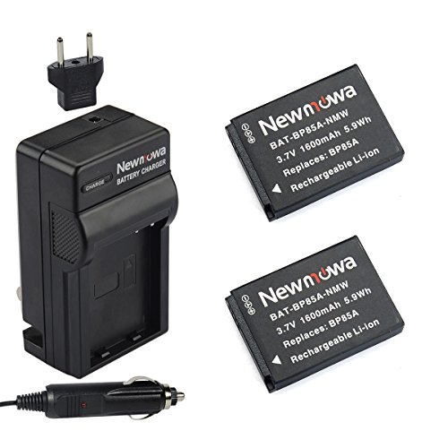 Newmowa EA-BP85A Battery (2-Pack) and Charger kit for Samsung BP85A, EA-BP85A, PL210, SH100, WB210 by Newmowa