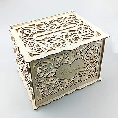 Xiuinserty Cartel de madera para bricolaje, caja de dinero rústica ...