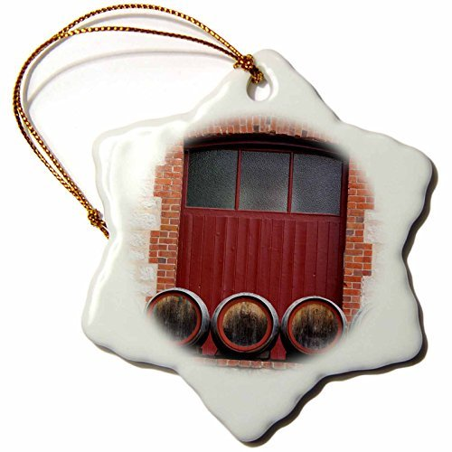 Christmas Ornament Danita Delimont - Australia - Australia, Barossa Valley, Angaston, Winery, exterior - Snowflake Porcelain Ornament