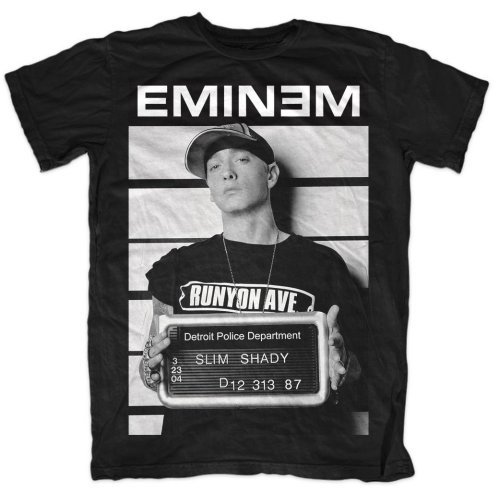 Amazon.com  Eminem Arrest Official Mens New Black T Shirt  Clothing 03dc4982ad6