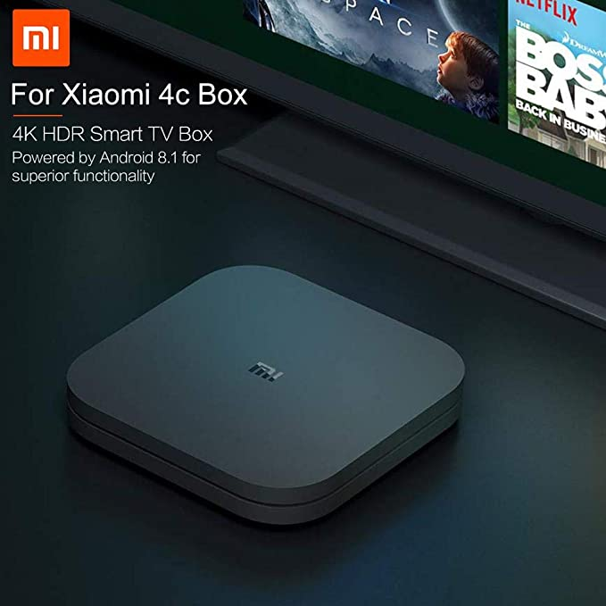 Xiaomi Android 8.1 4C HD Red Smart TV Box Media Player Set Top Box ...