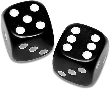 Auntwhale WAL 10 Dados Negros de 12 mm para Juegos de Mesa, Actividad, Tema Casino, artículos de Fiesta, Regalos de Juguetes: Amazon.es: Electrónica