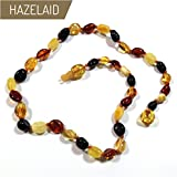 Hazelaid (TM) 12'' Pop-Clasp Baltic Amber Multicolored Bean Necklace
