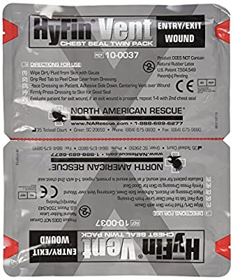 Tactical First Aid Kit: North American Rescue Hyfin Vent Chest Seal by North American Rescue