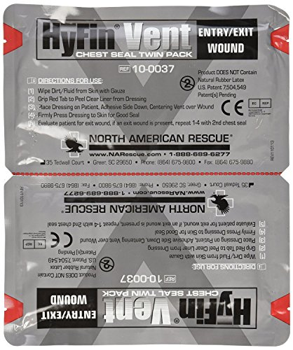 North Supply - North American Rescue Hyfin Vent Chest Seal, 2 Count