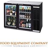 Beverage Air BB48GYF-1-B-PT Refrigerated Food Rated Pass Thru Back Bar Cooler in Black