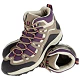 QUECHUA ARPENAZ 100 MID WOMEN'S WATERPROOF WALKING BOOTS - PURPLE
