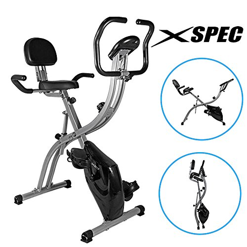 NEW Xspec Dual Recumbent Upright Indoor Cycling Foldable Exercise Bike