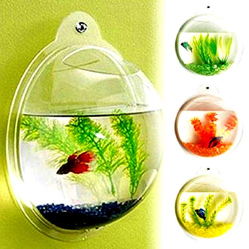 Wall Mounted Fish Tank Aquarium Fish Bubble Deluxe Acrylic Clear Color Made from Acrylic - Skroutz Deals
