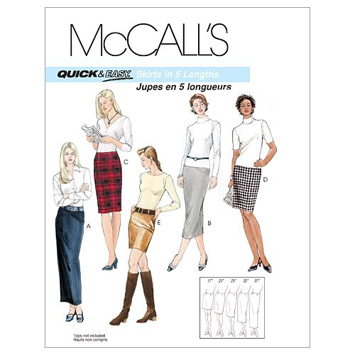 Mccalls Misses Skirt - McCall's Patterns M3830 Misses' Skirts In 5 Lengths, Size AA (6-8-10-12)