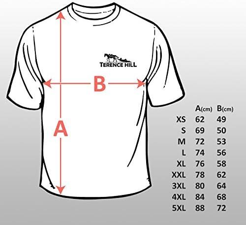 color negro Terence Hill Bud Spencer dise/ño de las leyendas silvestres Camiseta para hombre