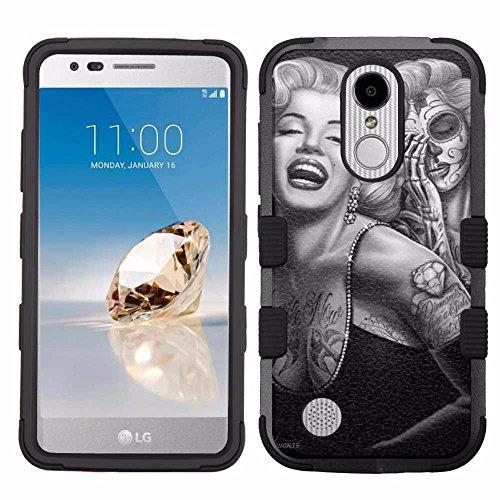 LG Aristo Case,LG Aristo 2 Case,LG Rebel 3 LTE Case,LG Aristo 2 Plus/LG Tribute Dynasty/Zone 4/Fortune 2/Phoenix 3/Rebel 2 LTE/K8+ Plus Case, Rugged Case - Marilyn Monroe #Skull