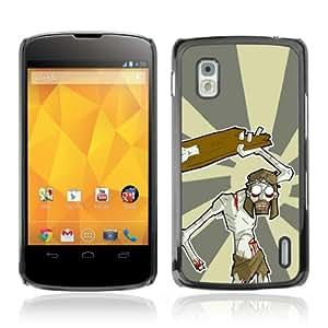 CQ Tech Phone Accessory: Carcasa Trasera Rigida Aluminio para LG Nexus 4 E960 - Jesus Zombie