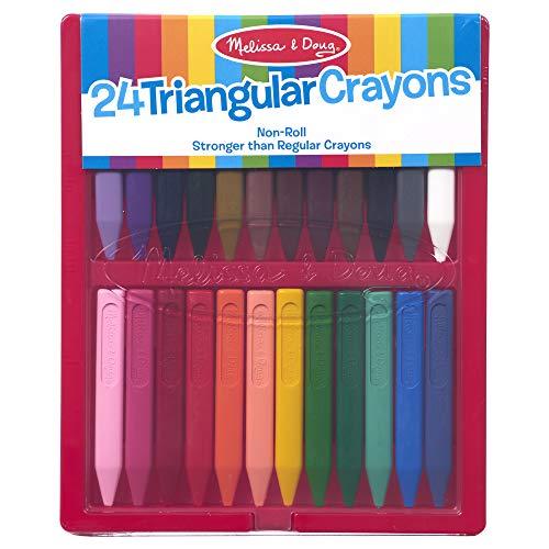 Melissa  amp; Doug Triangular Crayon Set, 24 Piece