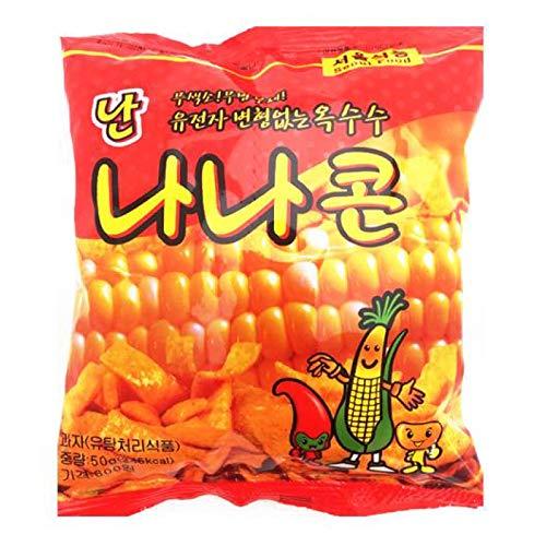 Korean traditional snack, Nannana Corn Snack 1.8oz (Pack of 5) (Corn Chips Korean)