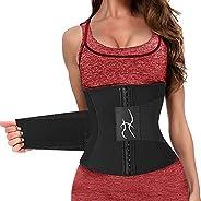ineepor Waist Trainer Belt Slimming Body Shaper with Sauna Effect, Shaperwear Extra Extender for Flexible Size
