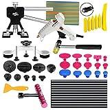 FLY5D® 49Pcs Car Body Paintless Dent Repair Tools Set Kits Puller Lifter Hail Slide Hammer Glue Gun Stick