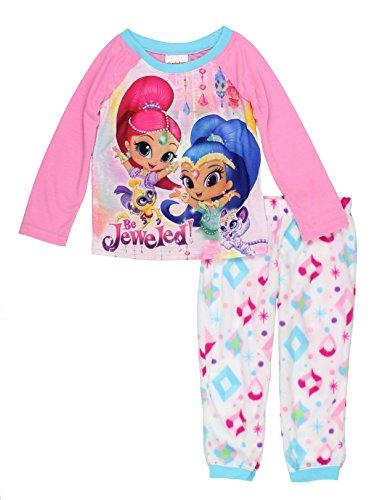 (Shimmer and Shine Girls Pajamas (8, Pink Be)