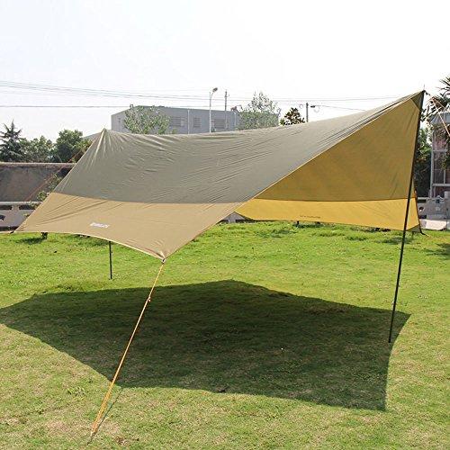 MUTANG Camping en plein air Auvent Tente Pêche Tourisme Pique-nique Auvent de pluie Tente de plage Activité bâche multicolore, plus sac de livraison