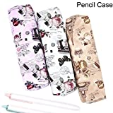 forone Color at Random Fashion Portable Classic Style Eiffel Tower Retro Pen Bag Makeup Pouch Printing Pencil Case
