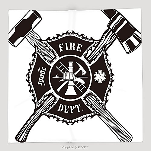 Custom Firefighter Cross Axe And Sledge Hammer Soft Fleece Throw Blanket