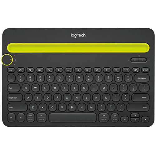 Logitech Bluetooth Multi-Device Keyboard K480 – Black – works with Windows and Mac Computers, Android and iOS Tablets and Smartphones (Keyboard Computer Bluetooth)