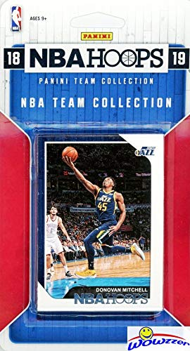 Utah Jazz 2018/2019 Panini Hoops NBA Basketball EXCLUSIVE Factory Sealed Limited Edition 9 Card Team Set with DONOVAN MITCHELL, Rudy Gobert, Ricky Rubio, Joe Ingles & Many More! WOWZZER!