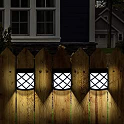 Garden and Outdoor GIGALUMI 8 Pack Solar Fence Lights,6 LED Solar Deck Ligths,Waterproof Automatic Decorative Outdoor Solar Wall Lights for… outdoor lighting