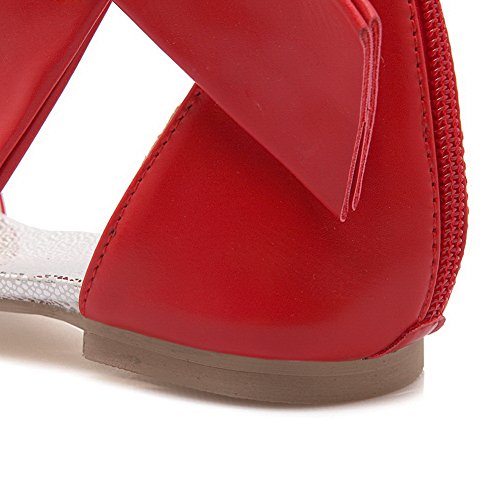 Rouge Uréthane Baguette Sandales Une Des Diu00753 Mode De Femmes Léger Style Poids R87TPdWU