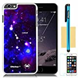 OkSoBuy® Apple iPhone 6 Plus (5.5 Inch) Case Constellation with Deep Blue Starship Background Soft silicone Impact Case for Apple Iphone 6 Plus (5.5 Inch) (White purple with Blue Cancer)