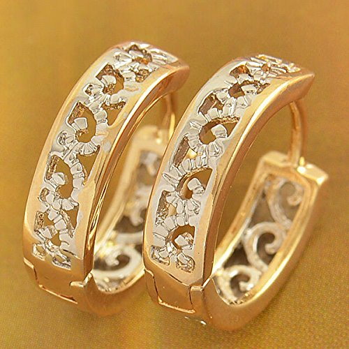 FidgetKute Childrens Girls Safety earings Kids Openwork Hoop Earrings Filled