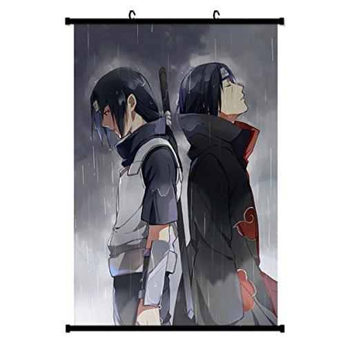 Onecos Naruto Itachi Sasuke Logo Poster Fabric Scroll Painti