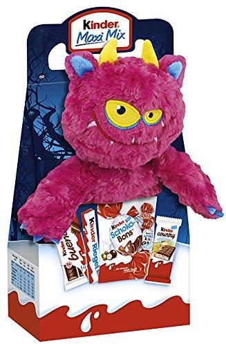 Kinder Halloween monstruo de peluche 23cm Pink Poison con Kinder Maxi, Bueno etcétera, 133g