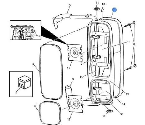 Amazon Com Volvo Truck 3092007 Mirror Cover Right Automotive