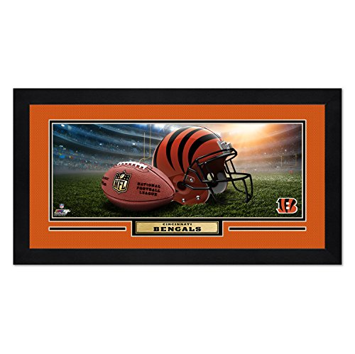 Photo File Cincinnati Bengals Print 13x7 Framed Helmet in Stadium Design