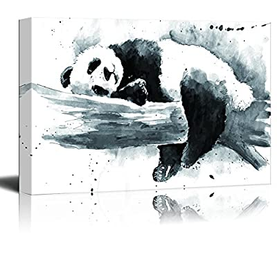 Animal Series Ink Painting of a Panda on...