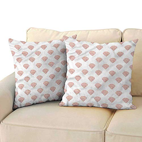 RuppertTextile Diamonds Living Room Sofa Hug Pillowcase Grungy Effect Cut Stones Machine Washable W23 x L23