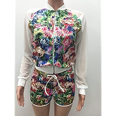 2 Piece Outfits For Women Floral Print Dashiki Long Sleeve Floral Blazer With Shorts