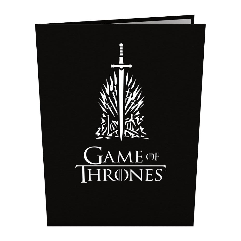 Tarjeta en 3D The Iron Throne Game of Thrones