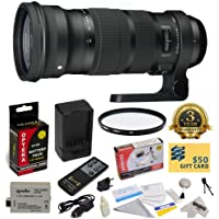 Sigma 120-300mm f/2.8 DG OS HSM Lens (137101) With 3 Year Extended Lens Warranty for the Canon XS XSi T1i DSLR Camera Includes - 105mm Multi-Coated UV Filter + Replacement Battery Pack for the Canon LP-E5 1800MAH + 1 Hour AC/DC Battery Charger + Deluxe Lens Cleaning Kit + LCD Screen Protectors + Wireless Shutter Release Remote Control + Mini Tripod + 47stphoto Microfiber Cloth + $50 Photo Print Gift Card!