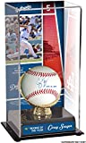 Corey Seager Los Angeles Dodgers Autographed Baseball with 2016 NL ROY Inscription and Rookie of the Year Display Case with Image - Fanatics Authentic Certified