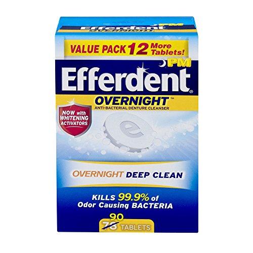 Efferdent Plus Mint Tablet Bonus 90 count, 0.9 OZ (Pack of 3) - Efferdent Plus Tab