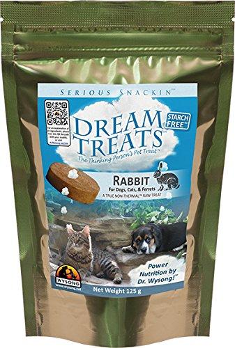 Wysong Dream Treats Rabbit Raw Dogs/Cats/Ferret Food - 4.9 Ounce Bag