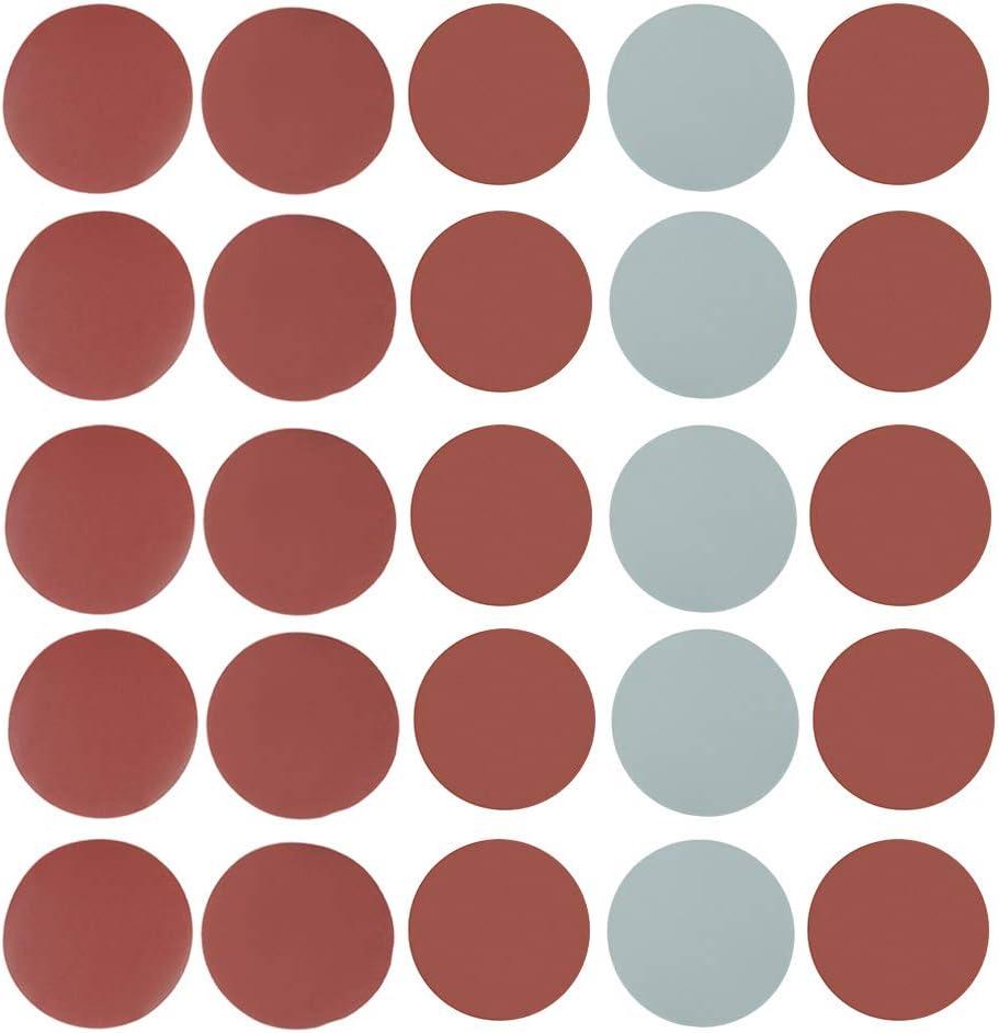 25 unidades de discos de lija de grano mixto de 12,7 cm 800/1000/1500/2000/3000 grano lija papel de pulido almohadillas abrasivo papel de lija