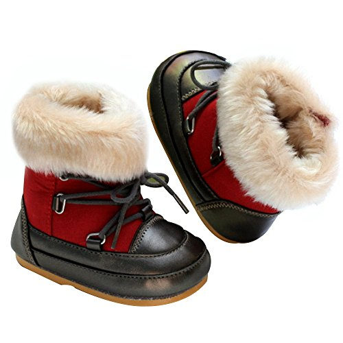 16fbb36ca672 Kuner Baby Boys and Girls Plush Robber Sole Waterproof Warm - Import ...