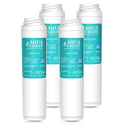 AQUACREST FQSLF Replacement Under Sink Water Filter, Compatible with GE FQSLF (2 Set) by AQUACREST