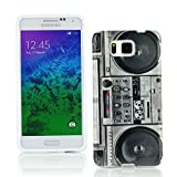 Kit Me Out CAN TPU Gel Case for Samsung Galaxy Alpha G850F - Multicoloured Vintage / Retro Stereo