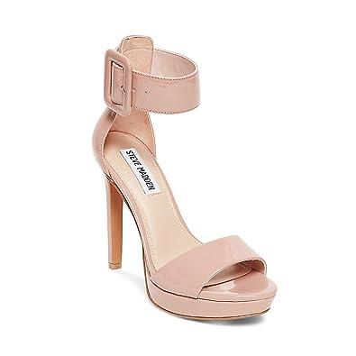d7bf948146559 Steve Madden Women's Circuit Heeled Sandal, Dark Blush Patent, ...