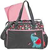 "Fisher-Price ""Elephant Flower"" Diaper Bag - gray, one size"