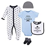 Hudson Baby Baby Multi Clothing Set, Little Gentleman 5 Piece, 0-3 Months (3M)